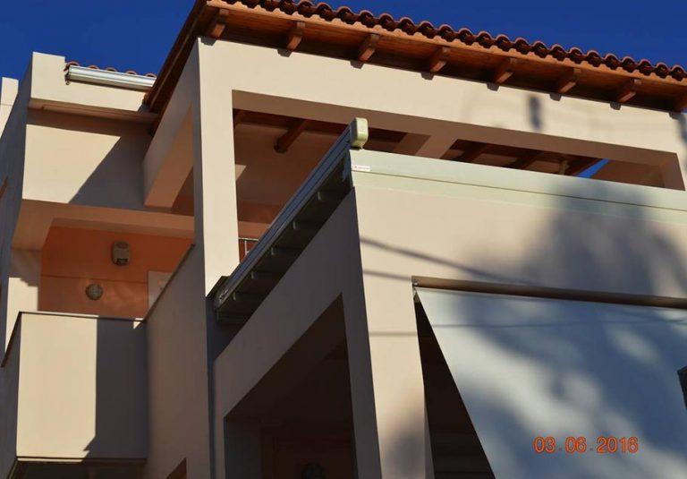 Κάλυψη βεράντας με περγκοτέντα στην οροφή | Tentagon