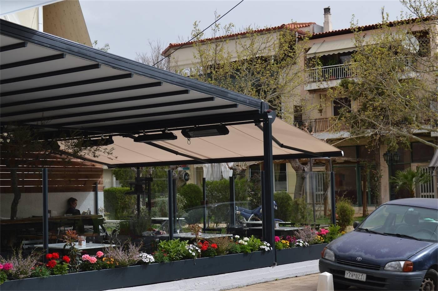 Περγκοτέντα και τέντα στην καφετέρια Jardin στην Παλλήνη | Tentagon