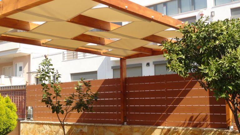 Περίφραξη οικίας με τάβλες wpc στην Λούτσα | Tentagon