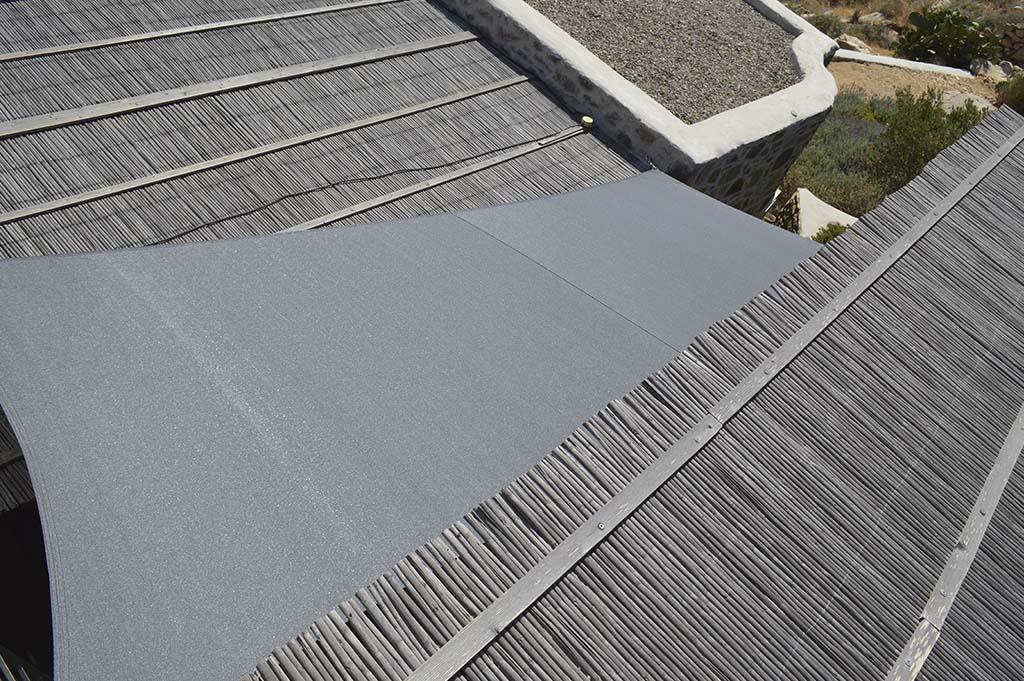 Τοποθέτηση εφελκιώμενων υφασμάτων στην Σέριφο | Tentagon
