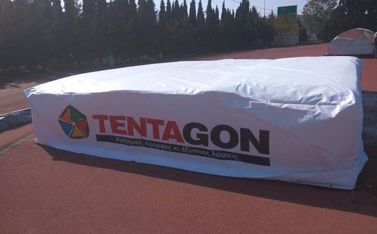 Σκέπαστρο για το στρώμα στίβου του γηπέδου Παλλήνης | Tentagon