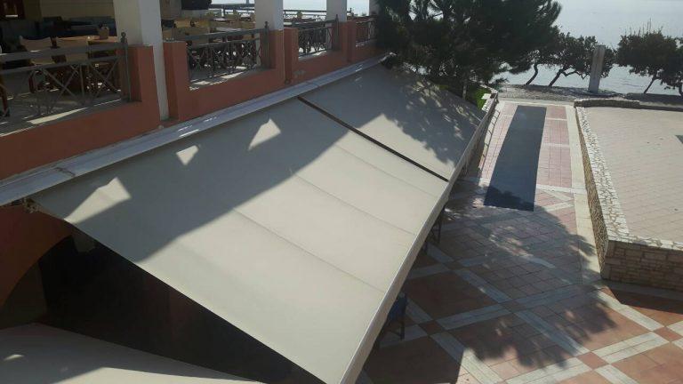 Αντικατάσταση υφασμάτων και τοποθέτηση αυτοματισμών σε ξενοδοχείο στην Ερέτρια   Tentagon