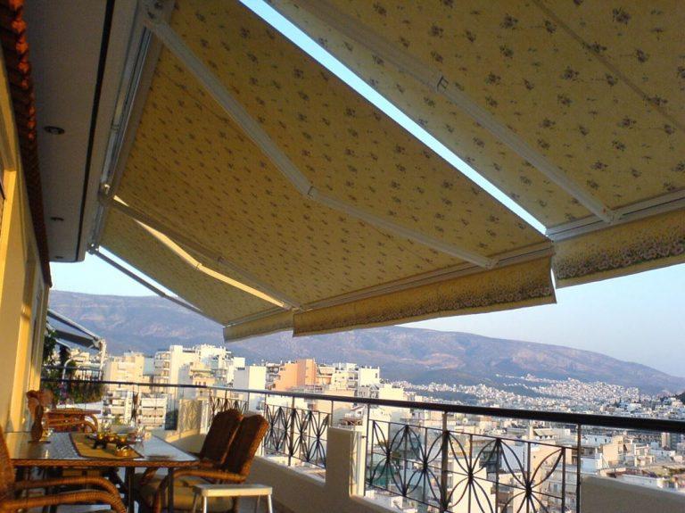 Τέντες με βραχίονες σε ρετιρέ στο κέντρο της Αθήνας | Tentagon