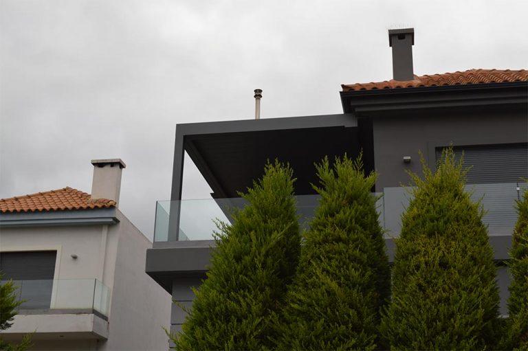Βιοκλιματική πέργκολα στους Θρακομακεδόνες | Tentagon