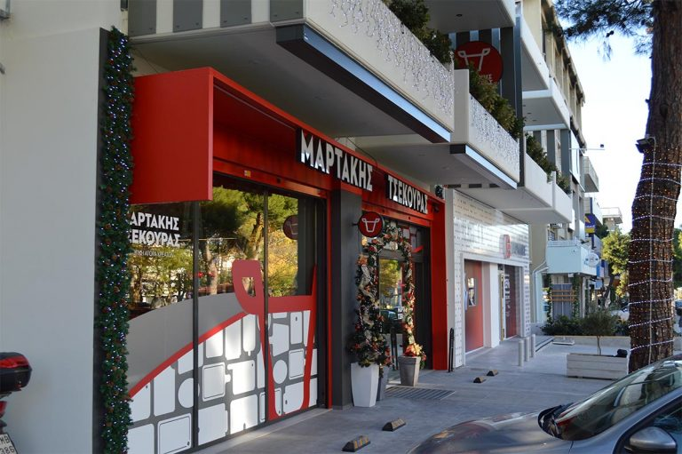 Τέντες markilux 970 στην ποιοτική αγορά κρεάτων Ι.Μαρτάκης-Α.Τσεκούρας στα Βριλήσσια