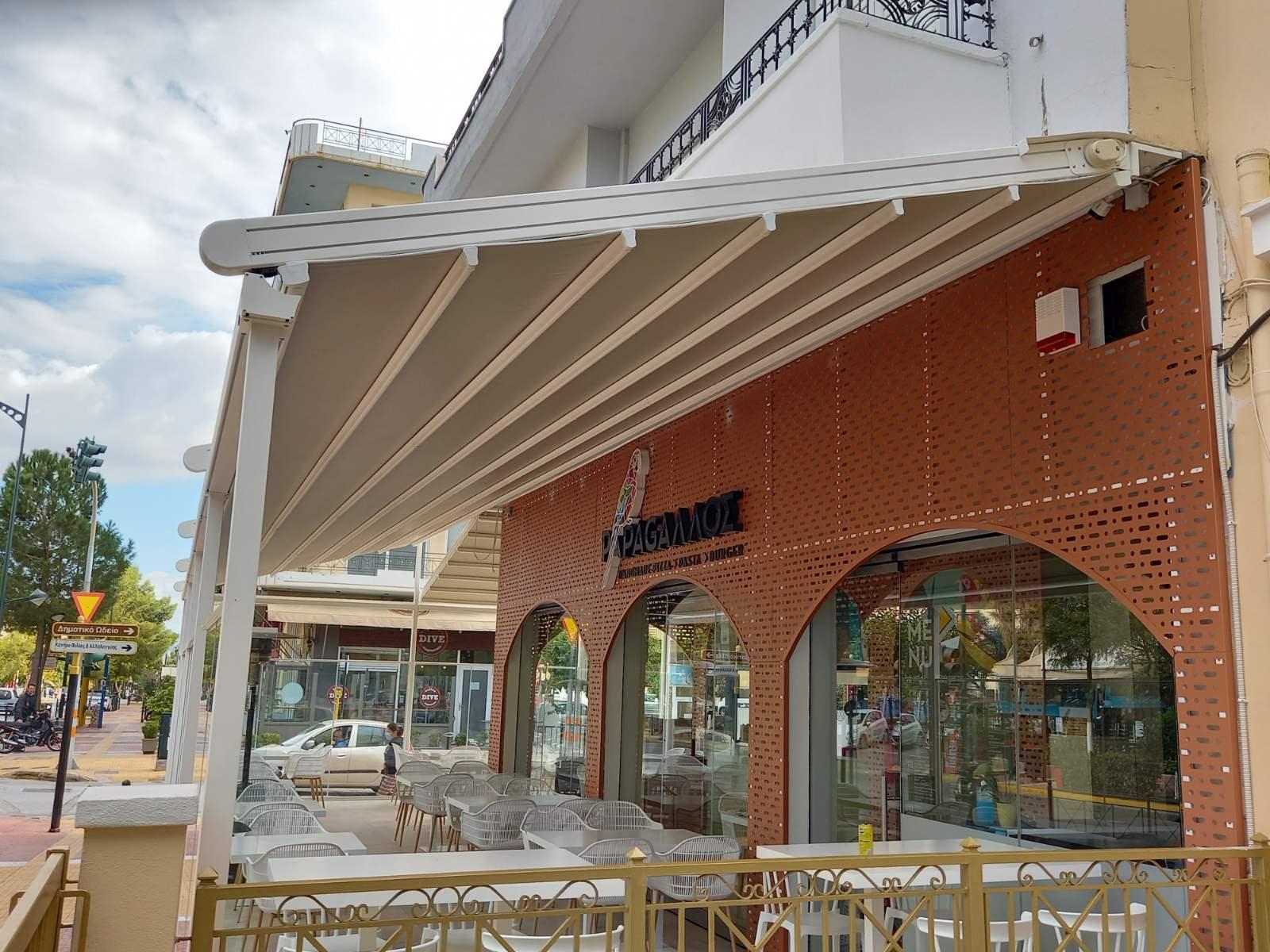 Συστήματα Περγκοτέντας στο Εστιατόριο PAPAGΑΛΛΟΣ στην Αγία Βαρβάρα